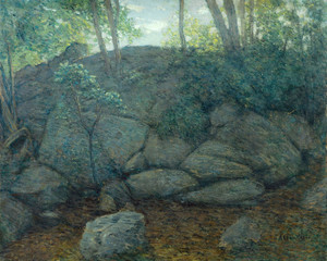 Art Prints of Woodland Rocks by Julian Alden Weir