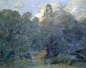 Art Prints of Landscape with Stone Wall at Windham by Julian Alden Weir