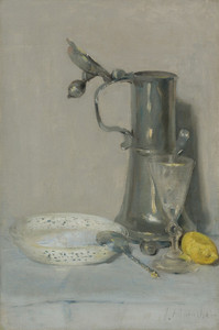 Art Prints of Still Life with Flagon Glass and Bowl by Julian Alden Weir