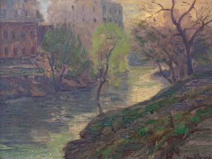 Art Prints of Early Morning on the San Antonio River by Julian Onderdonk