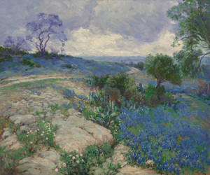 Art Prints of Texas landscape with Bluebonnets by Julian Onderdonk