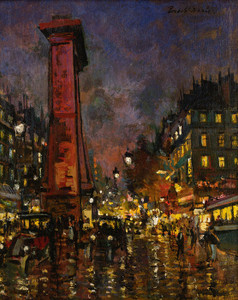 Art Prints of La Porte Saint Denis by Konstantin Alexeevich Korovin