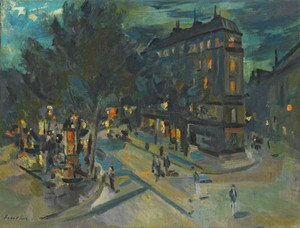 Art Prints of Paris at Night by Konstantin Alexeevich Korovin