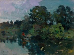 Art Prints of Pond at Kuskovo by Konstantin Alexeevich Korovin