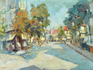 Art Prints of Sunny Street by Konstantin Alexeevich Korovin