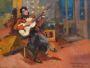 Art Prints of The Guitar Player by Konstantin Alexeevich Korovin