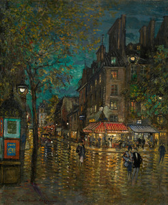 Art Prints of Paris Grand Boulevards by Konstantin Alexeevich Korovin