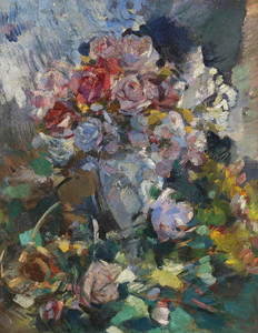 Art Prints of Still Life of Flowers by Konstantin Alexeevich Korovin