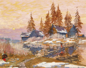 Art Prints of Late Winter by Konstantin Alexeevich Korovin