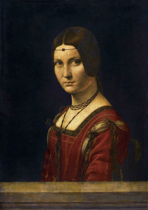 Art Prints of La Belle Ferroniere by Leonardo da Vinci