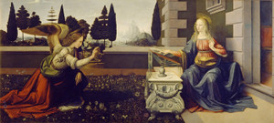 Art Prints of The Annunciation by Leonardo da Vinci