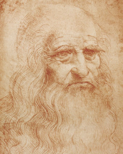 Art Prints of Leonardos Self Portrait 1510-13 by Leonardo da Vinci