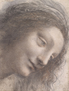 Art Prints of The Head of the Virgin by Leonardo da Vinci