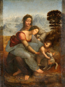 Art Prints of Virgin and Child with Saint Anne by Leonardo da Vinci
