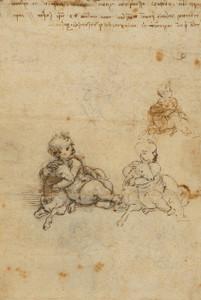Art Prints of Studies for the Christ Child with a Lamb by Leonardo da Vinci