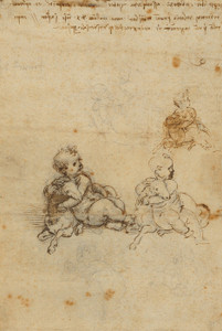 Art Prints of Studies for the Christ Child with a Lamb by Leonardo da Vinci