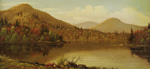 Art Prints of A lake in the Adirondacks by Levi Wells Prentice