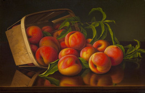 Art Prints of Peaches and Basket by Levi Wells Prentice