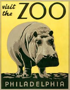 Art Prints of Visit the Zoo, Philadelphia (399132), Travel Poster