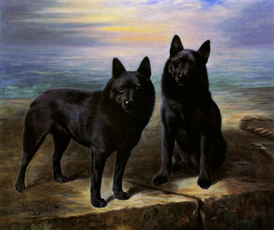 Art Prints of Champion Queen of Clubs and Companion by Lilian Cheviot