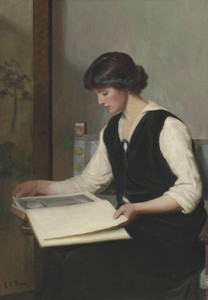 Art Prints of Reading by Lilla Cabot Perry