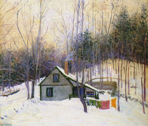 Art Prints of A Snowy Monday by Lilla Cabot Perry