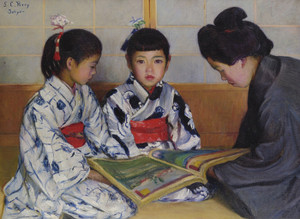 Art Prints of The Picture Book by Lilla Cabot Perry