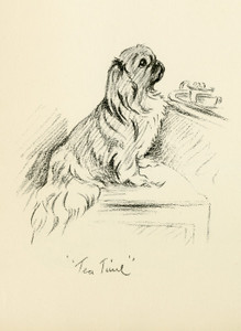 Art Prints of George, Tea Time by Lucy Dawson