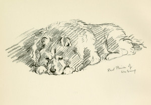 Art Prints of Red Prince of Wu Sung, Chow Chow by Lucy Dawson