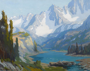 Art Prints of Long Lake, Sierra, Nevada by Marion Kavanaugh Wachtel