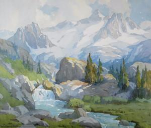 Art Prints of High Sierra Runoff by Marion Kavanaugh Wachtel