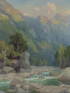 Art Prints of Matilija Canyon at Sunset by Marion Kavanaugh Wachtel