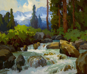 Art Prints of Near Mineral Falls by Marion Kavanaugh Wachtel