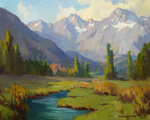 Art Prints of Sierra Stream by Marion Kavanaugh Wachtel
