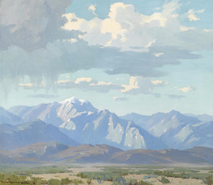 Art Prints of Spring Shower in the High Desert by Marion Kavanaugh Wachtel
