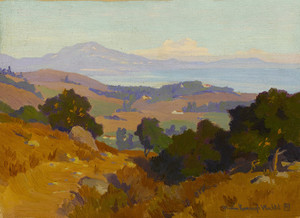 Art Prints of View Along the Santa Barbara Coast by Marion Kavanaugh Wachtel