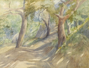 Art Prints of Trees on a Path by Marion Kavanaugh Wachtel
