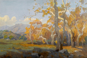 Art Prints of Yellow Sycamores by Marion Kavanaugh Wachtel