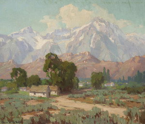 Art Prints of Mount Whitney from the Lone PIne by Marion Kavanaugh Wachtel