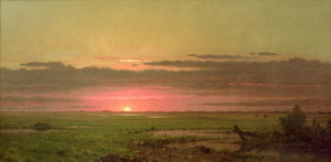 Art Prints of Sunset Marshland, New Jersey by Martin Johnson Heade