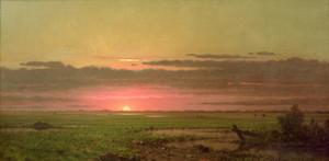 Art Prints of Sunset Marshland, New Jersey by Martin Johnson Heade