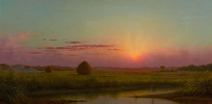 Art Prints of Sunset Over the Marsh I by Martin Johnson Heade