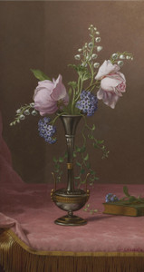 Art Prints of Victorian Vase with Flowers of Devotion by Martin Johnson Heade
