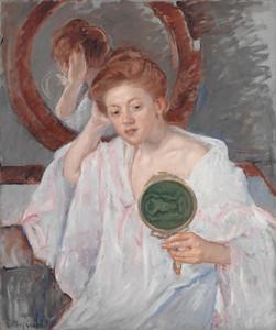 Art Prints of Denise at Her Dressing Table by Mary Cassatt