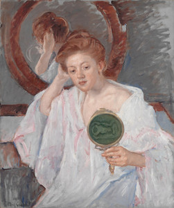 Art Prints of Denise at Her Dressing Table by Mary Cassatt