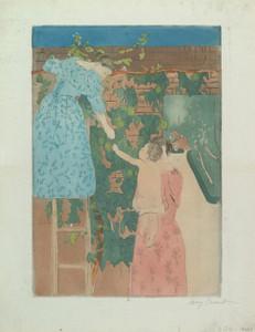 Art Prints of Gathering Fruit by Mary Cassatt
