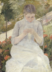 Art Prints of Girl in the Garden by Mary Cassatt