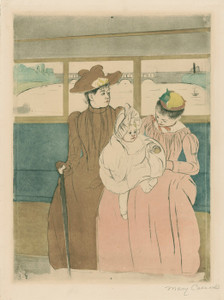 Art Prints of In the Omnibus by Mary Cassatt