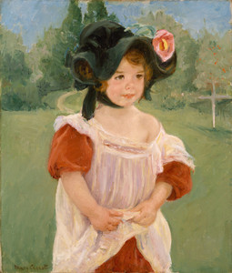 Art Prints of Margot Standing in a Garden by Mary Cassatt