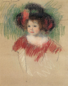 Art Prints of Margot in a Big Bonnet, 1902 by Mary Cassatt